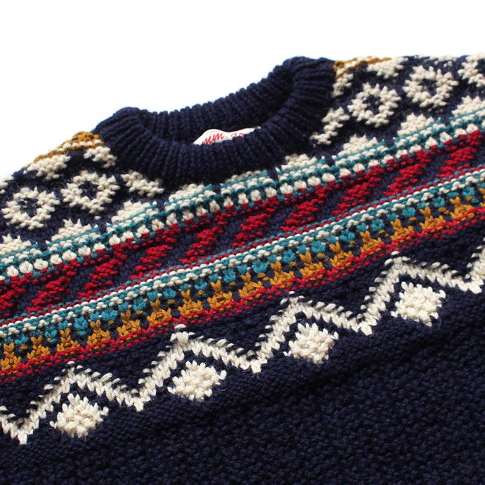 comm. arch. Hand Knitted P/O - Shetland ハンドニットローゲージセーター ネイビー<img class='new_mark_img2' src='//img.shop-pro.jp/img/new/icons20.gif' style='border:none;display:inline;margin:0px;padding:0px;width:auto;' /> 02
