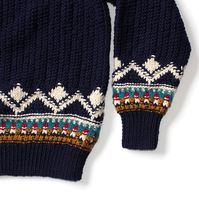 comm. arch. Hand Knitted P/O - Shetland ハンドニットローゲージセーター ネイビー<img class='new_mark_img2' src='//img.shop-pro.jp/img/new/icons47.gif' style='border:none;display:inline;margin:0px;padding:0px;width:auto;' /> 02