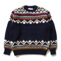 comm. arch. / Hand Knitted P/O - Shetland ハンドニットローゲージセーター ネイビー<img class='new_mark_img2' src='//img.shop-pro.jp/img/new/icons47.gif' style='border:none;display:inline;margin:0px;padding:0px;width:auto;' />