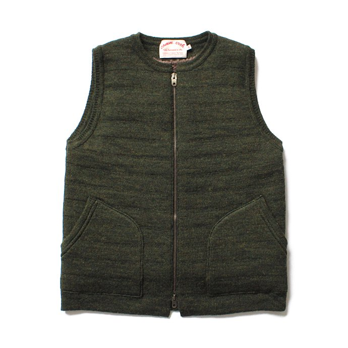comm. arch. Zipped Downy Vest - Forest Green ジップフロント ニットベスト グリーン<img class='new_mark_img2' src='//img.shop-pro.jp/img/new/icons47.gif' style='border:none;display:inline;margin:0px;padding:0px;width:auto;' /> 01