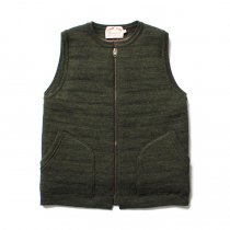 comm. arch. Zipped Downy Vest - Forest Green ���åץե��� �˥åȥ٥��� ���꡼��