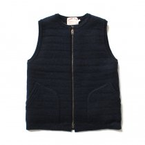 comm. arch. Zipped Downy Vest - Night Ocean ���åץե��� �˥åȥ٥��� �ͥ��ӡ�