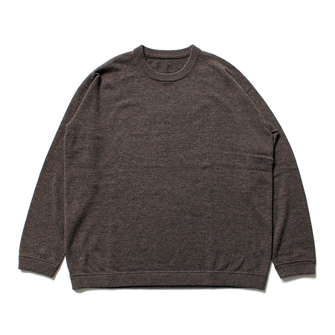 108155250 crepuscule / Whole Garment C/N ホールガーメント ハイゲージウール クルーネックセーター 1603-009 - Brown<img class='new_mark_img2' src='//img.shop-pro.jp/img/new/icons47.gif' style='border:none;display:inline;margin:0px;padding:0px;width:auto;' /> 01