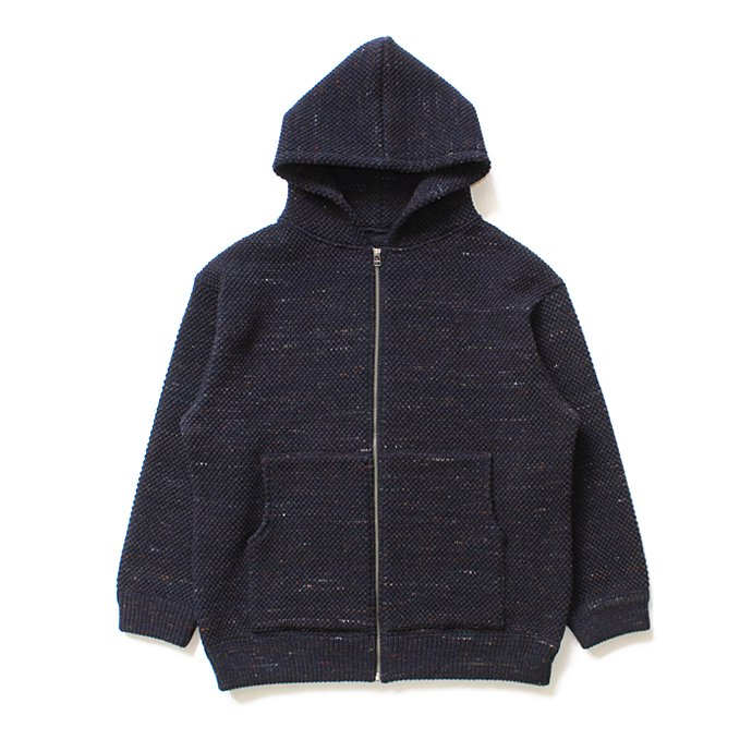 crepuscule crepuscule / Lowgage Knit Parka ローゲージニットパーカー ネイビー 1603-016 - Navy 01