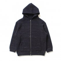 crepuscule / Lowgage Knit Parka ローゲージニットパーカー ネイビー 1603-016 - Navy