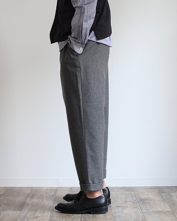 CEASTERS CEASTERS / 2 Pleats Wool Trousers 2タックウールパンツ グレー 02