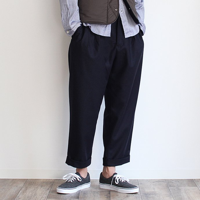 CEASTERS CEASTERS / 2 Pleats Wool Trousers 2タックウールパンツ ネイビー<img class='new_mark_img2' src='//img.shop-pro.jp/img/new/icons47.gif' style='border:none;display:inline;margin:0px;padding:0px;width:auto;' /> 01