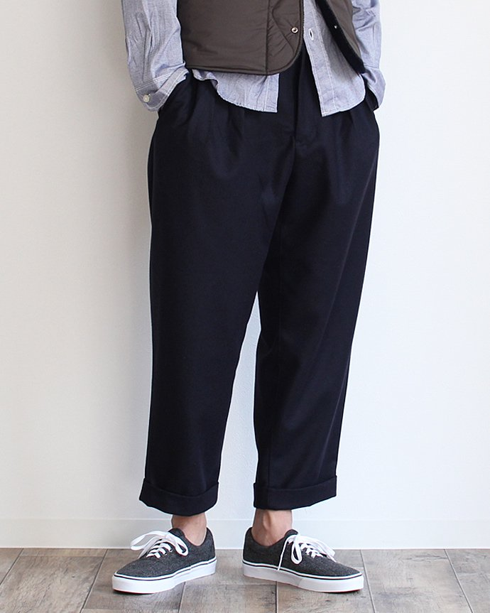 CEASTERS CEASTERS / 2 Pleats Wool Trousers 2タックウールパンツ ネイビー<img class='new_mark_img2' src='//img.shop-pro.jp/img/new/icons47.gif' style='border:none;display:inline;margin:0px;padding:0px;width:auto;' /> 02