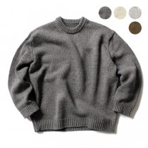 crepuscule crepuscule / Lowgage L/S コットンローゲージ クルーネックニット 1701-001 全4色