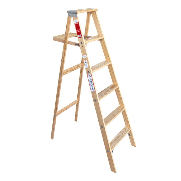 113752701 Michigan Ladder Company / Wood Step Ladder ウッドステップラダー - Size 6 01