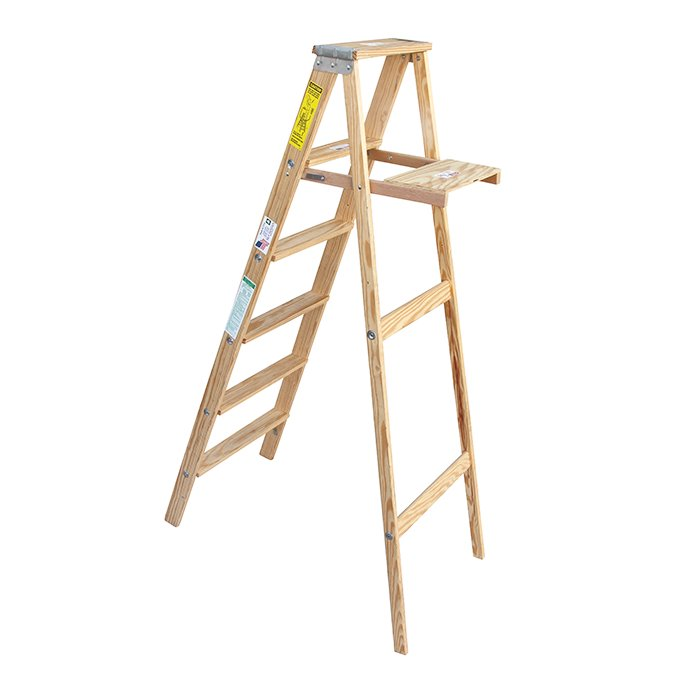 113752701 Michigan Ladder Company / Wood Step Ladder ウッドステップラダー - Size 6 02