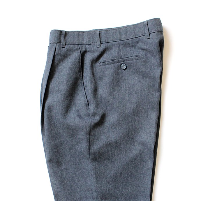 Hexico Deformer 1-Tuck Pants - Ex. Action Slacks リメイクスラックス - Heather Navy 32<img class='new_mark_img2' src='//img.shop-pro.jp/img/new/icons47.gif' style='border:none;display:inline;margin:0px;padding:0px;width:auto;' /> 02