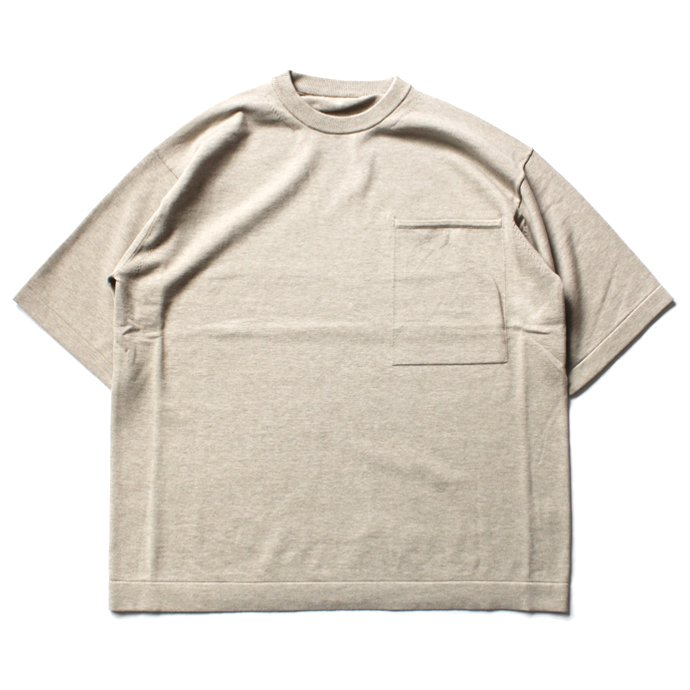 crepuscule crepuscule / Pocket Knit S/S 1701-010 - Beige ショートスリーブポケットニット ベージュ<img class='new_mark_img2' src='//img.shop-pro.jp/img/new/icons47.gif' style='border:none;display:inline;margin:0px;padding:0px;width:auto;' /> 01