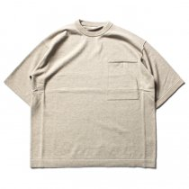 crepuscule / Pocket Knit S/S 1701-010 - Beige ショートスリーブポケットニット ベージュ<img class='new_mark_img2' src='//img.shop-pro.jp/img/new/icons47.gif' style='border:none;display:inline;margin:0px;padding:0px;width:auto;' />