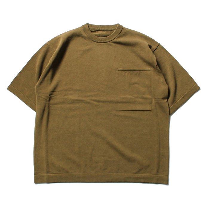 crepuscule crepuscule / Pocket Knit S/S 1701-010 - Mustard ショートスリーブポケットニット マスタード<img class='new_mark_img2' src='//img.shop-pro.jp/img/new/icons47.gif' style='border:none;display:inline;margin:0px;padding:0px;width:auto;' /> 01