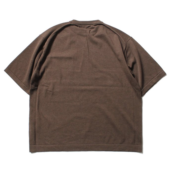 116002502 crepuscule / Pocket Knit S/S 1701-010 - Brown ショートスリーブポケットニット ブラウン<img class='new_mark_img2' src='//img.shop-pro.jp/img/new/icons47.gif' style='border:none;display:inline;margin:0px;padding:0px;width:auto;' /> 02