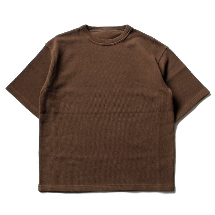 crepuscule crepuscule / Highgage Moss Stitch S/S Cutsew 1701-011 - Brown ハイゲージ鹿の子ショートスリーブニット ブラウン<img class='new_mark_img2' src='//img.shop-pro.jp/img/new/icons47.gif' style='border:none;display:inline;margin:0px;padding:0px;width:auto;' /> 01