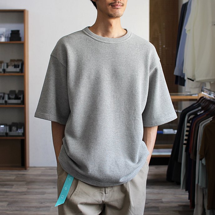 crepuscule crepuscule / Highgage Moss Stitch S/S Cutsew 1701-011 - Brown ハイゲージ鹿の子ショートスリーブニット ブラウン<img class='new_mark_img2' src='//img.shop-pro.jp/img/new/icons47.gif' style='border:none;display:inline;margin:0px;padding:0px;width:auto;' /> 02