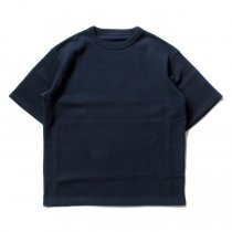 crepuscule / Highgage Moss Stitch S/S Cutsew 1701-011 - Navy ハイゲージ鹿の子ショートスリーブニット ネイビー<img class='new_mark_img2' src='//img.shop-pro.jp/img/new/icons47.gif' style='border:none;display:inline;margin:0px;padding:0px;width:auto;' />