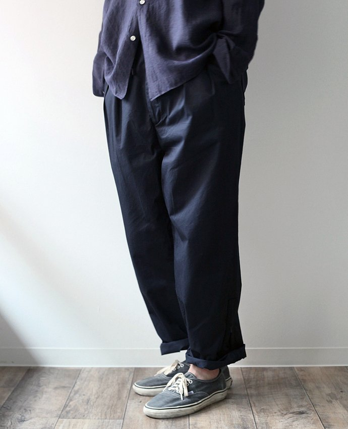 blurhms blurhms / Both Side Zipper Wide Pants BHS-F17009 - Navy 02