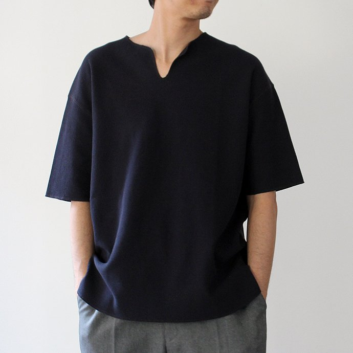 blurhms blurhms ROOTSTOCK / Rough & Smooth Thermal Loose Fit Over-neck BHS-RKSS17018 - Navy<img class='new_mark_img2' src='//img.shop-pro.jp/img/new/icons47.gif' style='border:none;display:inline;margin:0px;padding:0px;width:auto;' /> 02