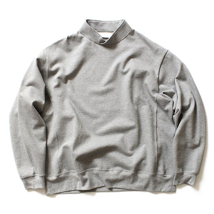 THEE THEE(シー)/ Hi Neck Sweat ハイネック度詰め鹿の子編みスウェット - Grey KU-CS-02<img class='new_mark_img2' src='//img.shop-pro.jp/img/new/icons47.gif' style='border:none;display:inline;margin:0px;padding:0px;width:auto;' /> 01