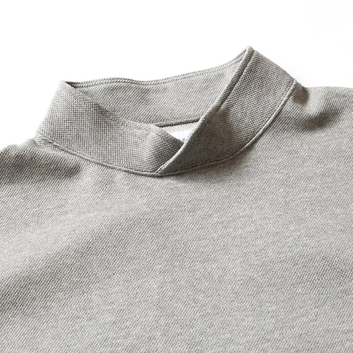 THEE THEE(シー)/ Hi Neck Sweat ハイネック度詰め鹿の子編みスウェット - Grey KU-CS-02<img class='new_mark_img2' src='//img.shop-pro.jp/img/new/icons47.gif' style='border:none;display:inline;margin:0px;padding:0px;width:auto;' /> 02