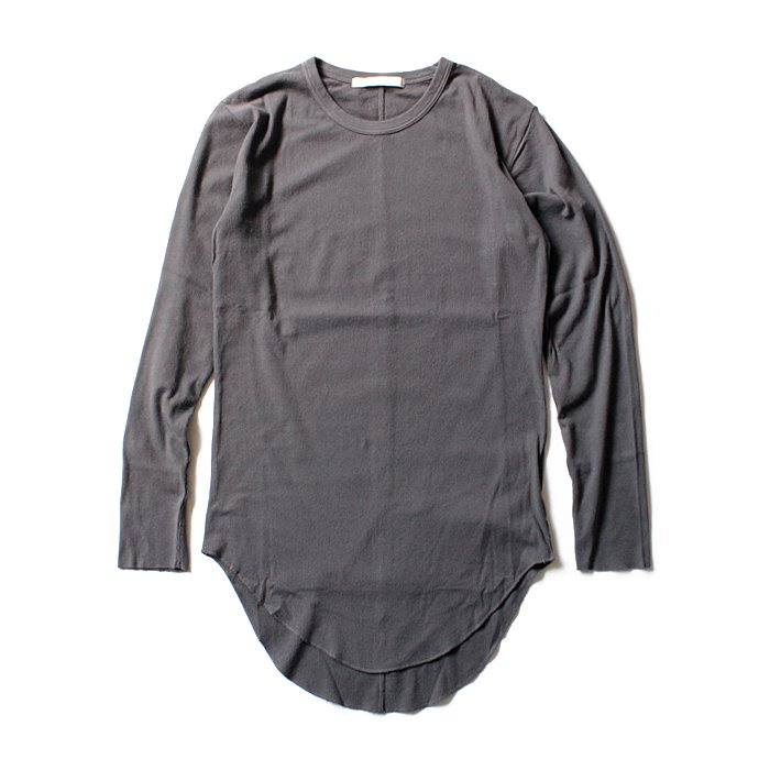 THEE THEE(シー)/ Long Rib Stitch Long Tee リブ編みロングTシャツ - Charcoal CT-CS-03 01