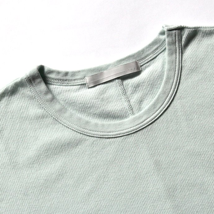 THEE THEE(シー)/ Long Rib Stitch Long Tee リブ編みロングTシャツ - Charcoal CT-CS-03 02