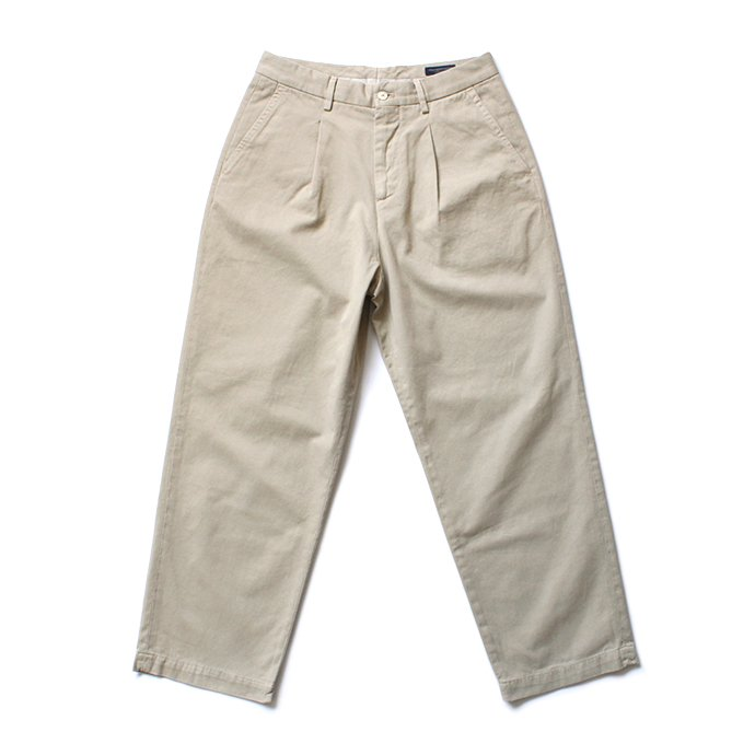 RICCARDO METHA  One Tuck Wide Trousers ワンタック ワイドパンツ - Dragon Twill Beige<img class='new_mark_img2' src='//img.shop-pro.jp/img/new/icons47.gif' style='border:none;display:inline;margin:0px;padding:0px;width:auto;' />