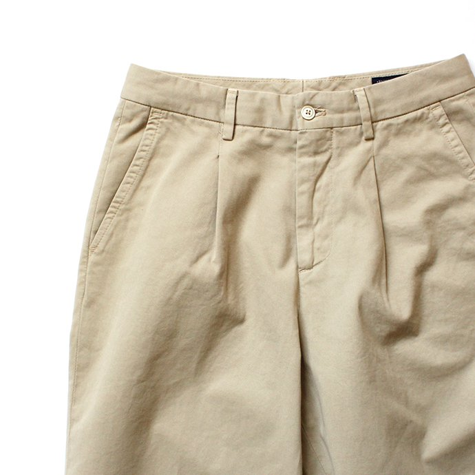 116246659 RICCARDO METHA / 1Tuck Wide Trousers Twill ワンタックワイドトラウザース  ツイル - Beige<img class='new_mark_img2' src='//img.shop-pro.jp/img/new/icons47.gif' style='border:none;display:inline;margin:0px;padding:0px;width:auto;' /> 02