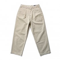 RICCARDO METHA / 1Tuck Wide Trousers Twill ワンタックワイドトラウザース  ツイル - Beige