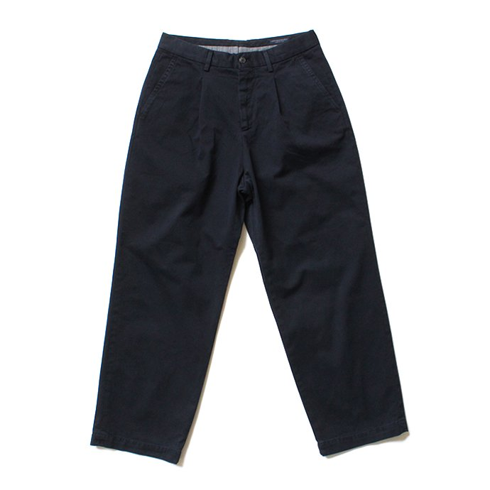 Other Brands RICCARDO METHA リカルド・メッサ / One Tuck Wide Trousers -  Dragon Twill Dark Navy 01