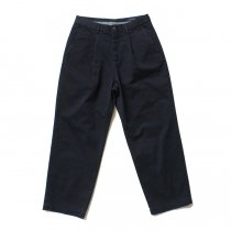 RICCARDO METHA  One Tuck Wide Trousers ワンタック ワイドパンツ-  Dragon Twill Dark Navy
