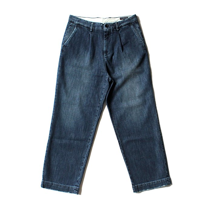 Other Brands RICCARDO METHA リカルド・メッサ / One Tuck Wide Trousers - Denim 02