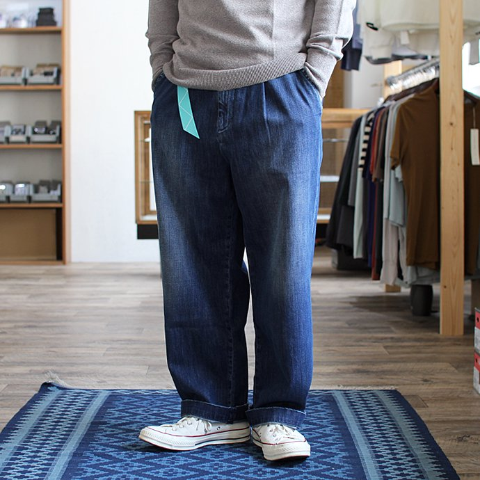 RICCARDO METHA  One Tuck Wide Trousers ワンタック ワイドパンツ- Denim<img class='new_mark_img2' src='//img.shop-pro.jp/img/new/icons47.gif' style='border:none;display:inline;margin:0px;padding:0px;width:auto;' /> 02