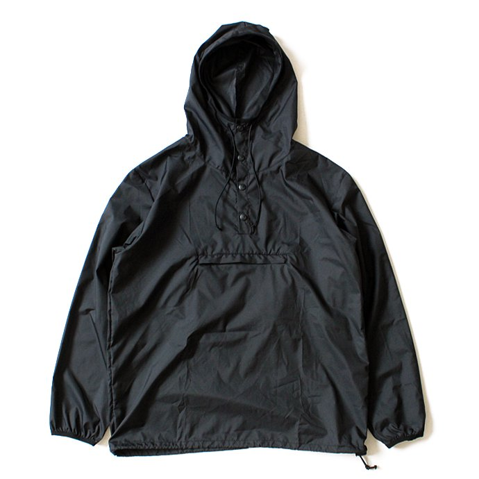 117016319 Powderhorn Mountaineering / MOUNTAIN EASY PULLOVER PHM-17-001 パッカブルアノラック ブラック 01
