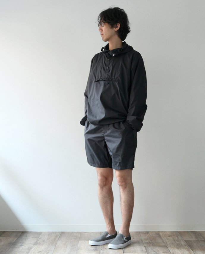 117016319 Powderhorn Mountaineering / MOUNTAIN EASY PULLOVER PHM-17-001 パッカブルアノラック ブラック 02