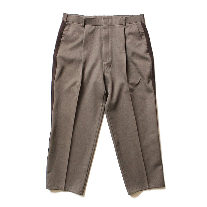 Hexico Deformer 1-Tuck Line Pants - Ex. Action Slacks リメイクスラックス - Heather Brown<img class='new_mark_img2' src='//img.shop-pro.jp/img/new/icons47.gif' style='border:none;display:inline;margin:0px;padding:0px;width:auto;' /> 01