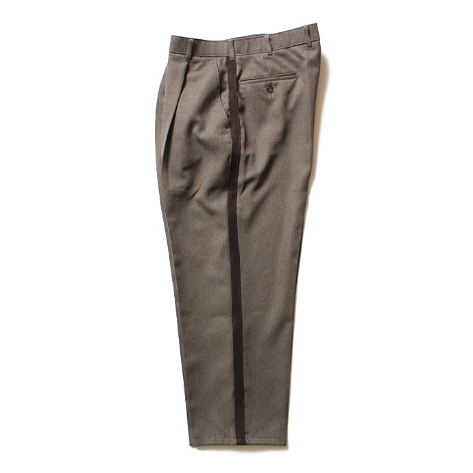 Hexico Deformer 1-Tuck Line Pants - Ex. Action Slacks リメイクスラックス - Heather Brown<img class='new_mark_img2' src='//img.shop-pro.jp/img/new/icons47.gif' style='border:none;display:inline;margin:0px;padding:0px;width:auto;' /> 02