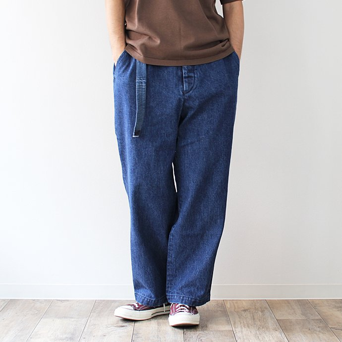 O- LOOSE DENIM FB ブルーデニムパンツ O-W-02B Blue 01