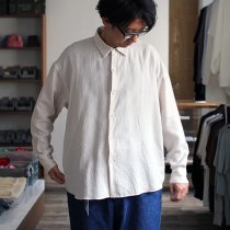 THEE THEE x hatsutoki W-face Shirts comfortable WF-SH-01 Pinkbeige