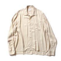 THEE open collar (SHORT) LR-SH-01 レーヨンオープンカラーシャツ Ivory<img class='new_mark_img2' src='//img.shop-pro.jp/img/new/icons47.gif' style='border:none;display:inline;margin:0px;padding:0px;width:auto;' />