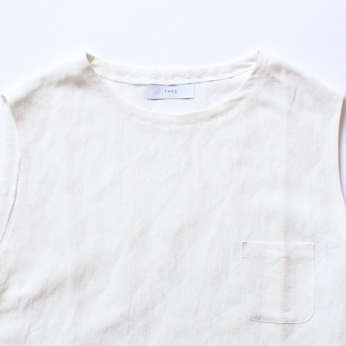 THEE Linen Long N/S Tee LV-CS-03 リネンノースリーブT ホワイト<img class='new_mark_img2' src='//img.shop-pro.jp/img/new/icons47.gif' style='border:none;display:inline;margin:0px;padding:0px;width:auto;' /> 02