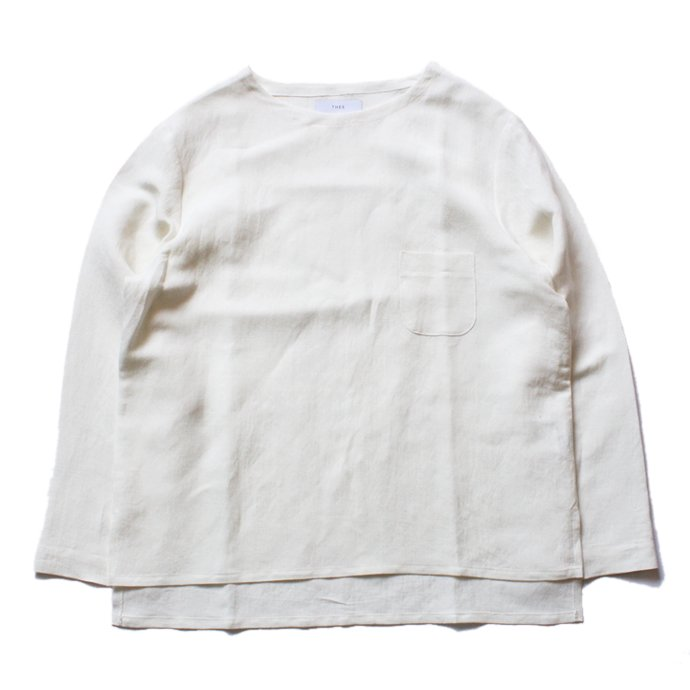 THEE Linen Long Sleeve Tee LV-CS-04 リネンロングスリーブT ホワイト<img class='new_mark_img2' src='//img.shop-pro.jp/img/new/icons47.gif' style='border:none;display:inline;margin:0px;padding:0px;width:auto;' /> 01
