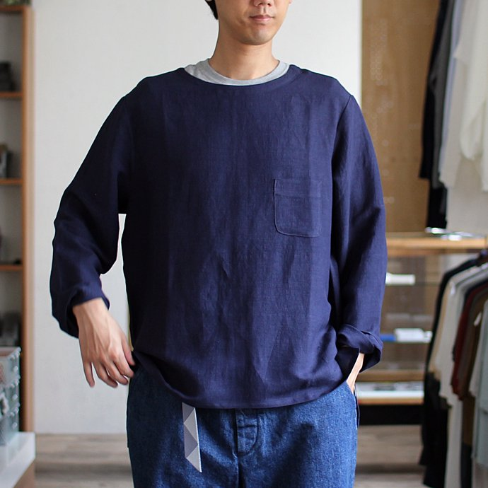 THEE Linen Long Sleeve Tee LV-CS-04 リネンロングスリーブT ホワイト<img class='new_mark_img2' src='//img.shop-pro.jp/img/new/icons47.gif' style='border:none;display:inline;margin:0px;padding:0px;width:auto;' /> 02