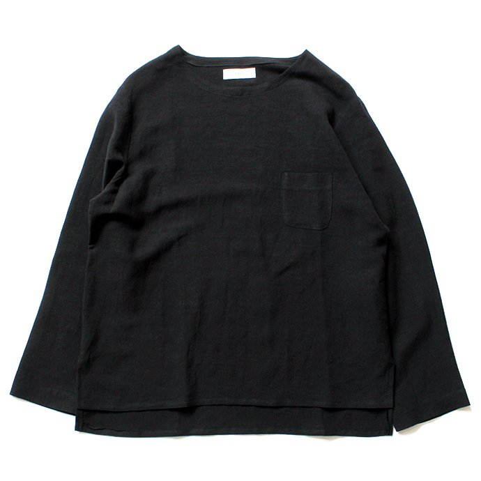 118017543 THEE(シー)/ Linen Long Sleeve Tee LV-CS-04 リネンロングスリーブT ブラック<img class='new_mark_img2' src='//img.shop-pro.jp/img/new/icons47.gif' style='border:none;display:inline;margin:0px;padding:0px;width:auto;' /> 01