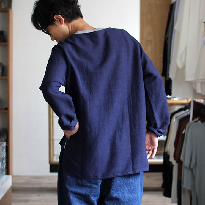118017543 THEE(シー)/ Linen Long Sleeve Tee LV-CS-04 リネンロングスリーブT ブラック<img class='new_mark_img2' src='//img.shop-pro.jp/img/new/icons47.gif' style='border:none;display:inline;margin:0px;padding:0px;width:auto;' /> 02