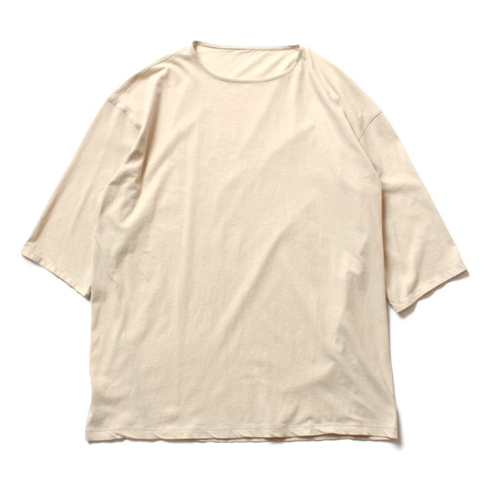 smoothday ユニセックス テクノラマ オーバーサイズ 七分袖Tシャツ SG-T002-004 Ecru<img class='new_mark_img2' src='//img.shop-pro.jp/img/new/icons47.gif' style='border:none;display:inline;margin:0px;padding:0px;width:auto;' /> 01