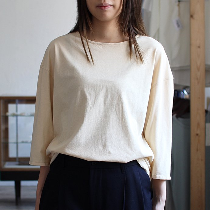 smoothday ユニセックス テクノラマ オーバーサイズ 七分袖Tシャツ SG-T002-004 Ecru<img class='new_mark_img2' src='//img.shop-pro.jp/img/new/icons47.gif' style='border:none;display:inline;margin:0px;padding:0px;width:auto;' /> 02